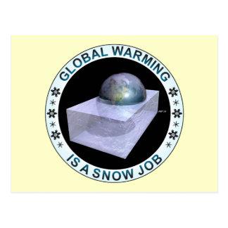 Globaler Schnee-Job Postkarte