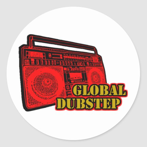 GLOBALES DUBSTEP RUNDER STICKER