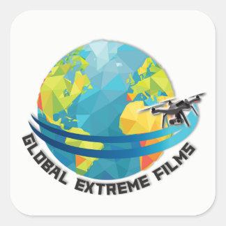 Globales Extrem filmt den Aufkleber (weiß)