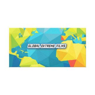 Globales Extrem filmt Leinwand-Fahne (Fahnen-Logo) Leinwanddruck