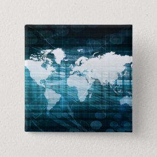 Globales Geschäft und Erfolg in der Quadratischer Button 5,1 Cm