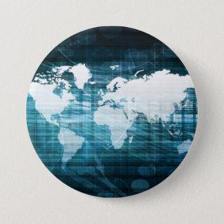 Globales Geschäft und Erfolg in der Runder Button 7,6 Cm