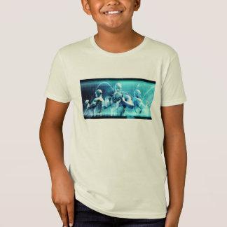 Globales Konferenz-Konzept als abstrakter T-Shirt