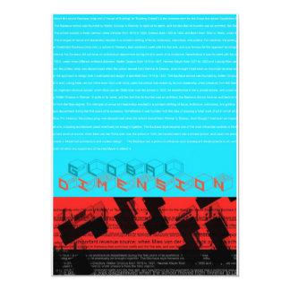 Globales Maß 12,7 X 17,8 Cm Einladungskarte
