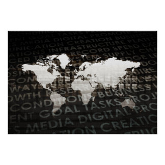 Globales Subskriptions-Service-System als Poster