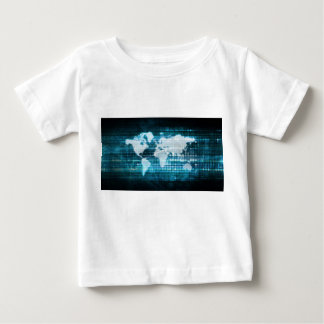 Globales Technologie-Konzept Digital abstrakt Baby T-shirt