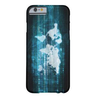 Globales Technologie-Konzept Digital abstrakt Barely There iPhone 6 Hülle
