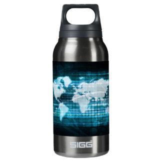 Globales Technologie-Konzept Digital abstrakt Isolierte Flasche