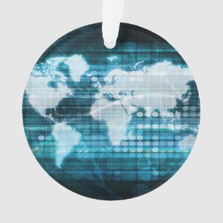 Globales Technologie-Konzept Digital abstrakt Ornament