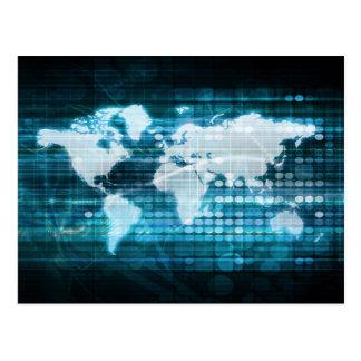 Globales Technologie-Konzept Digital abstrakt Postkarte