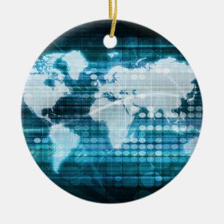 Globales Technologie-Konzept Digital abstrakt Rundes Keramik Ornament