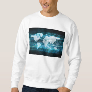 Globales Technologie-Konzept Digital abstrakt Sweatshirt