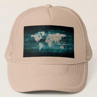 Globales Technologie-Konzept Digital abstrakt Truckerkappe