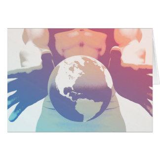 Globalisierung und eine globale Firma mit den Karte