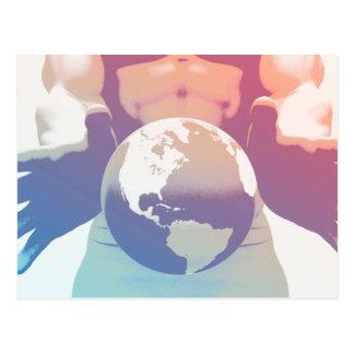 Globalisierung und eine globale Firma mit den Postkarte