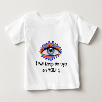Globellium V1 - Text: behalten Sie ein Auge auf Baby T-shirt
