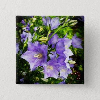 Glockenblumen Quadratischer Button 5,1 Cm