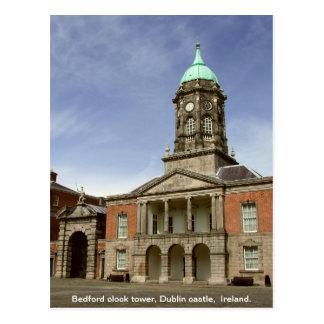 Glockenturm Dublin-Schlosses Irland - Bedfords Postkarte