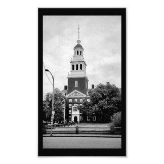 Glockenturm Harvards Fotodruck