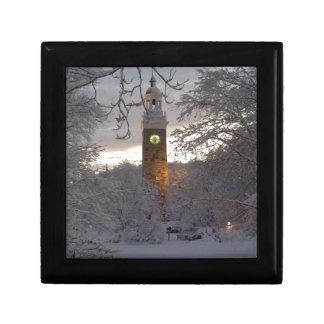 Glockenturm Snowy Neu-England Schmuckschachtel
