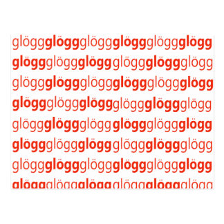 Glogg Glogg Glogg lustiges Schwede Postkarte