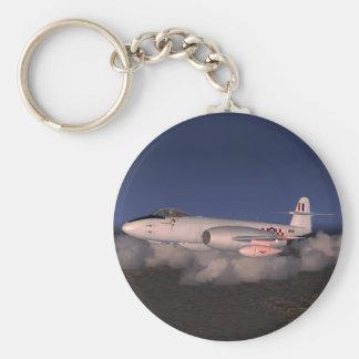 Gloster Meteor-Jet-Kämpfer-Flugzeug Standard Runder Schlüsselanhänger