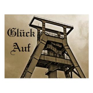 Glück Auf Bergbau Postkarte