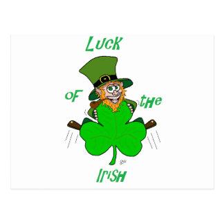Glück der Iren Postkarte