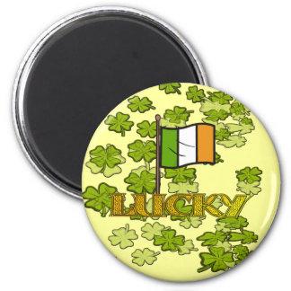 Glück der Iren Runder Magnet 5,1 Cm