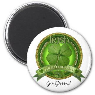 Glück der Iren - St Patrick Tag Runder Magnet 5,7 Cm
