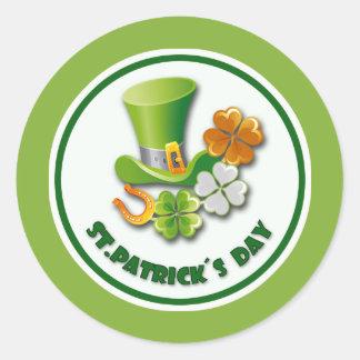 Glück der Iren. St Patrick Tagesgeschenk-Aufkleber Runder Aufkleber