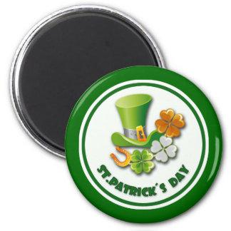 Glück der Iren. St Patrick Tagesgeschenk-Magneten Runder Magnet 5,7 Cm