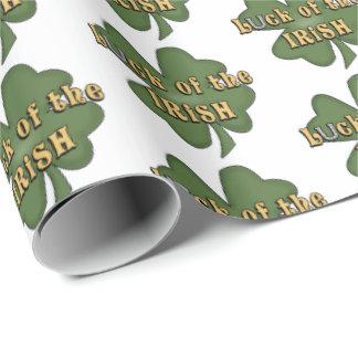 Glück der irischen Klee-Partyverpackung Geschenkpapier