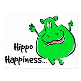 Glück-Flusspferd - Postkarte