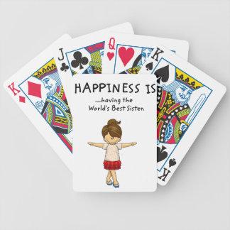 Glück… hat die beste Schwester. .pn der Welt Bicycle Spielkarten