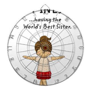 Glück… hat die beste Schwester. .pn der Welt Dartscheibe
