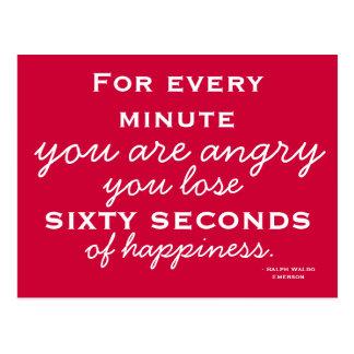 Glück-Inspiration - motivierend Postkarte