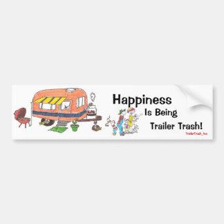 Glück ist Anhänger-Abfall Autoaufkleber