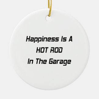 Glück ist ein frisiertes Auto in der Garage Keramik Ornament
