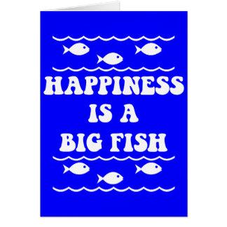 Glück ist ein großer Fisch Grußkarte