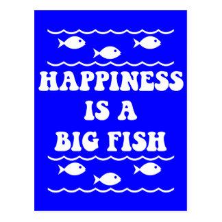 Glück ist ein großer Fisch Postkarte