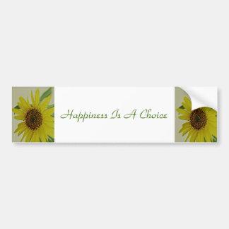 Glück ist eine auserlesene Sonnenblume Autoaufkleber