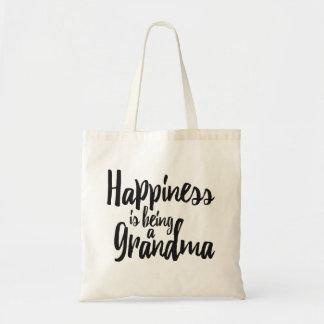 Glück ist eine Großmutter Tragetasche