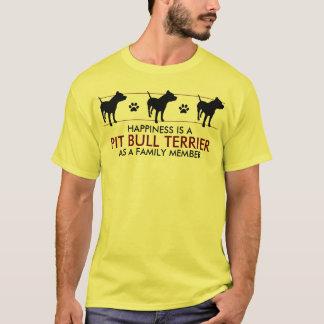"""""""Glück ist eine Pitbull """" T-Shirt"""