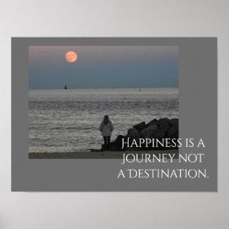 Glück ist eine Reise -- Kunst-Druck Poster