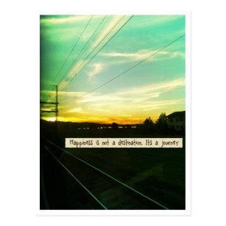 Glück ist eine Reise Postkarte