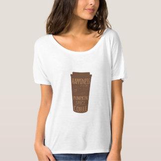 Glück ist eine Schale des Kürbis-Gewürz-Kaffee-T - T-Shirt
