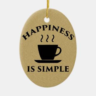 Glück ist einfach ovales keramik ornament