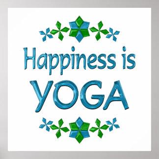 Glück ist Yoga Plakatdruck