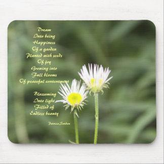 Glück mit Gedicht mousepad